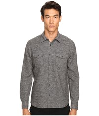 Atm Anthony Thomas Melillo Donegal Twill Shirt Charcoal Men's Short Sleeve Knit Gray
