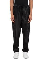 Abasi Rosborough Arc Ankara Broken Stripe Dropped Crotch Pants Black