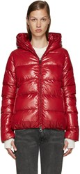 Duvetica Red Quilted Down Jacket