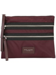 Marc Jacobs 'Biker' Smart Cosmetic Pouch Red