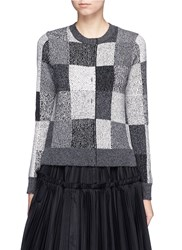 Marc Jacobs Patchwork Effect Two Way Cashmere Sweater Grey
