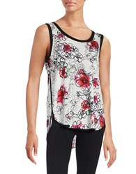 T Tahari Hattie Tank Top White Multi