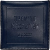 Opening Ceremony Navy Leather Square Card Holder