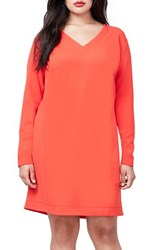 Rachel Roy Plus Size Women's V Neck Shift Dress