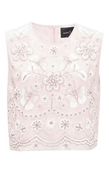 Needle And Thread Petal Pink Embellished Bib Top Light Pink