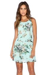 Ladakh Fresh Floral Dress Turquoise