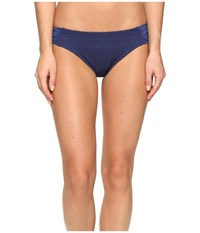 Becca Prairie Rose American Tab Side Bottoms Dark Denim Women's Swimwear Navy