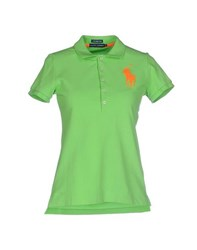 Ralph Lauren Topwear Polo Shirts Women Acid Green