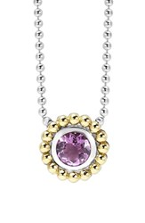 Women's Lagos Stone Pendant Necklace Amethyst
