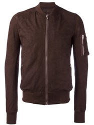 Rick Owens Raglan Bomber Jacket Brown