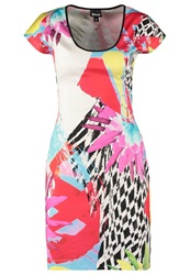 Just Cavalli Summer Dress White Red Turquoise