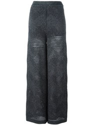 M Missoni Knitted Trousers Grey
