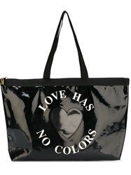 Moschino Vintage Heart Patch Tote Black