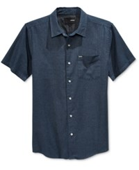 Hurley Men's One And Only Short Sleeve Shirt Obsidian