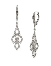 Judith Jack Marcasite And Crystal Paved Mini Chandelier Earrings Silver