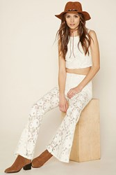Forever 21 Flared Lace Pants