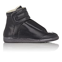 Maison Martin Margiela Men's Stamped Leather Future Ankle Strap Sneakers Black Blue Black Blue