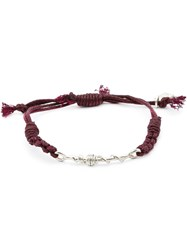 1 100 Twisted Wire Bead Bracelet Red