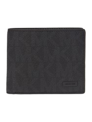 Michael Kors Mk Monogram Coin Pocket Wallet Black