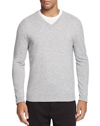 Bloomingdale's The Men's Store At Cashmere V Neck Sweater Light Grey