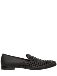 Giacomorelli Studded Matte Leather Loafers Black