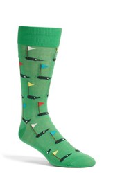 Men's Hot Sox 'Golfer' Socks Green Kelly Green