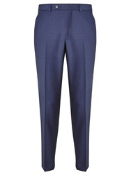 John Lewis Melange Super 100S Wool Tailored Suit Trousers Royal Blue