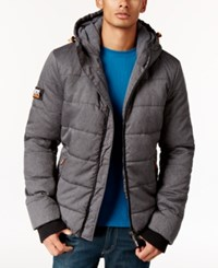 Superdry Men's Polar Sports Puffer Coat Black Marl