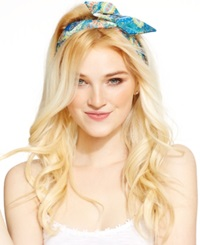 Josette Paisley Wire Headwrap Blue