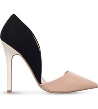 Miss Kg Andi Suedette And Leather Court Shoes Black