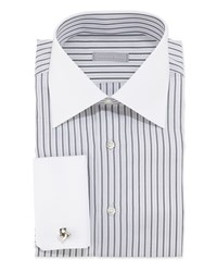 Stefano Ricci Striped Dress Shirt Black White B W 20