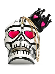 Manish Arora Skull Clutch Black