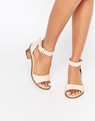 Truffle Collection Honor Mid Heeled Sandals Nude Pu Beige