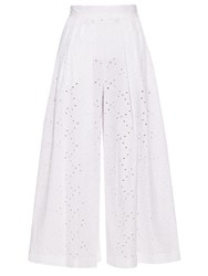 Stella Jean Broderie Anglaise Culottes White