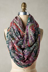 Anthropologie Contempo Infinity Scarf Green Motif