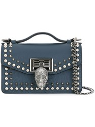 Philipp Plein Mini 'Swish' Crossbody Bag Blue