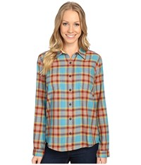 Royal Robbins Cottonwood Plaid Long Sleeve Cove Women's Long Sleeve Button Up Brown