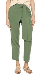 Ella Moss The Wrap Front Pants Fern