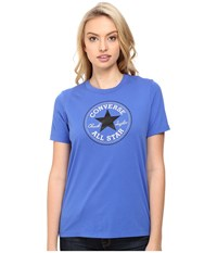 Converse Core Solid Short Sleeve Core Patch Crew Tee Oxygen Blue Women's T Shirt