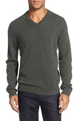 Nordstrom Men's Big And Tall Men's Shop Cashmere V Neck Sweater Grey Sedona