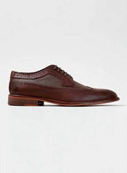 Topman Burgundy And Brown 2 Tone Brogues Red