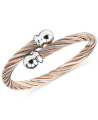 Charriol Women's Celtic Two Tone Pvd Stainless Steel Cable Bangle Bracelet 04 901 1216 0L Two Tone
