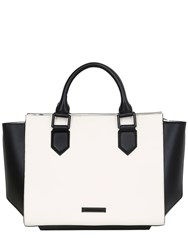 Kendall Kylie Brook Two Tone Leather Top Handle Bag