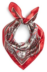 Junior Women's Lulu Paisley Scarf Red