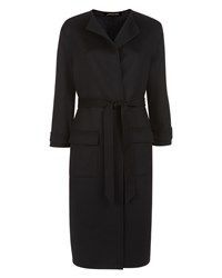 Jaeger Double Faced Wool Pocket Coat Black