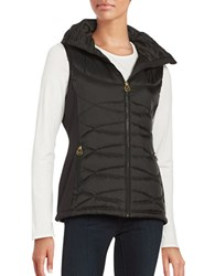 Michael Michael Kors Hooded Vest Jacket Black