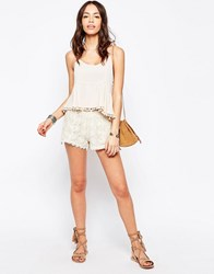 New Look Crochet Shorts Toasted Almond Tan