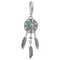 Thomas Sabo Charm Club Faux Turquoise Dreamcatcher Charm Silver Turquoise
