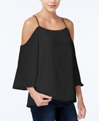 Bar Iii Cold Shoulder Top Only At Macy's Deep Black