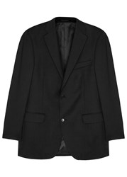Oscar Jacobson Joel Black Wool Jacket